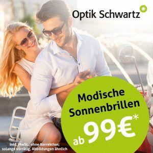 Beste Sicht im Sommer, Sonnenbrillen ab 99€ bei Optik Schwartz